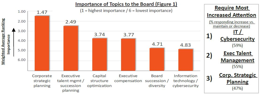 Figure 1 - Importance of Topics to the Board